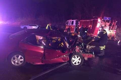 4 firefighters, 2 civilians injured in Capital Beltway crash