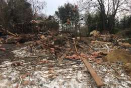 Montgomery County Fire and other agencies were on the scene at Ashley Drive Saturday in the aftermath of a house explosion that occurred Friday morning. (Courtesy Montgomery County Fire)
