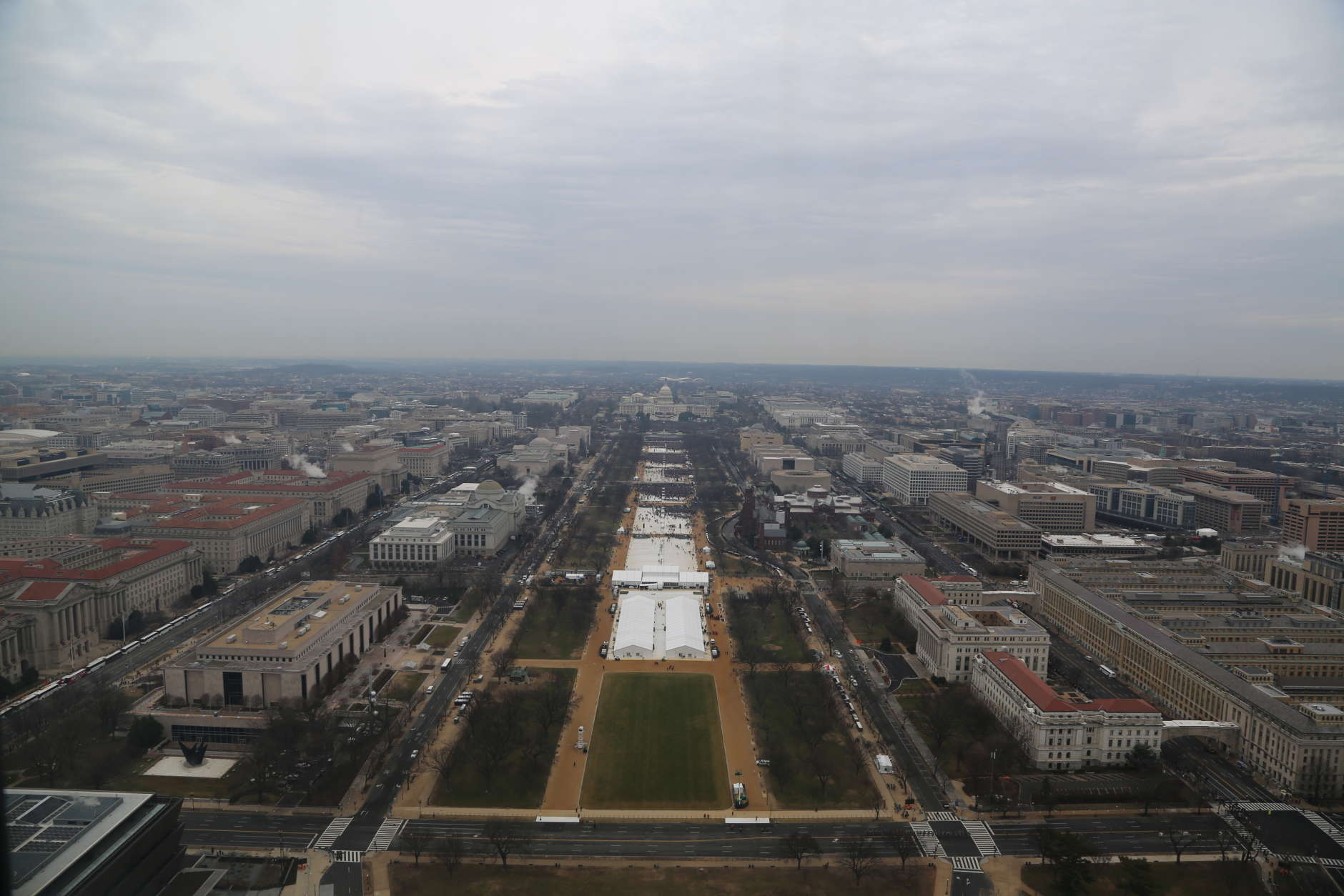 This photo shows the stretch of land near the Capitol's West Front stage on Inauguration Day. (Courtesy National Park Service)