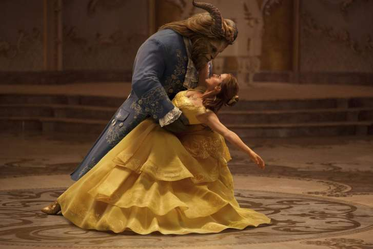 This Image Released By Disney Shows Dan Stevens As The Beast Left And Emma Watson Belle In A Live Action Adaptation Of Animated Classic Beauty