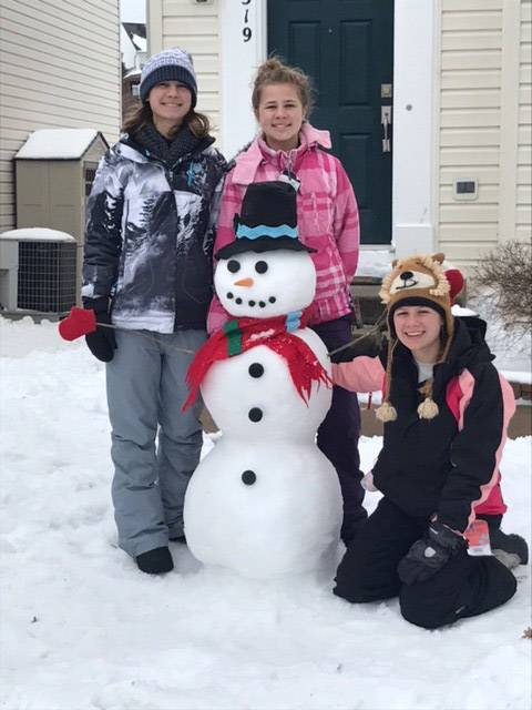 The perfect snowman in Leesburg, Virginia. (Courtesy Sonya Hodge)