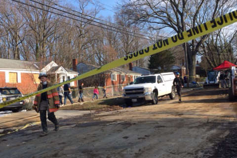 Photos: House explosion in Rockville