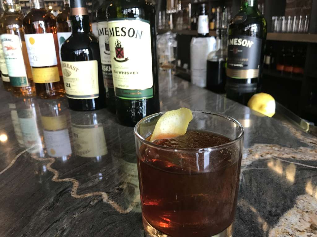 """The Black Irish"" draws from two classic cocktails: the old fashioned and the Irish coffee. If you don't want to make it at home, you can find it on the menu at Jack Rose."