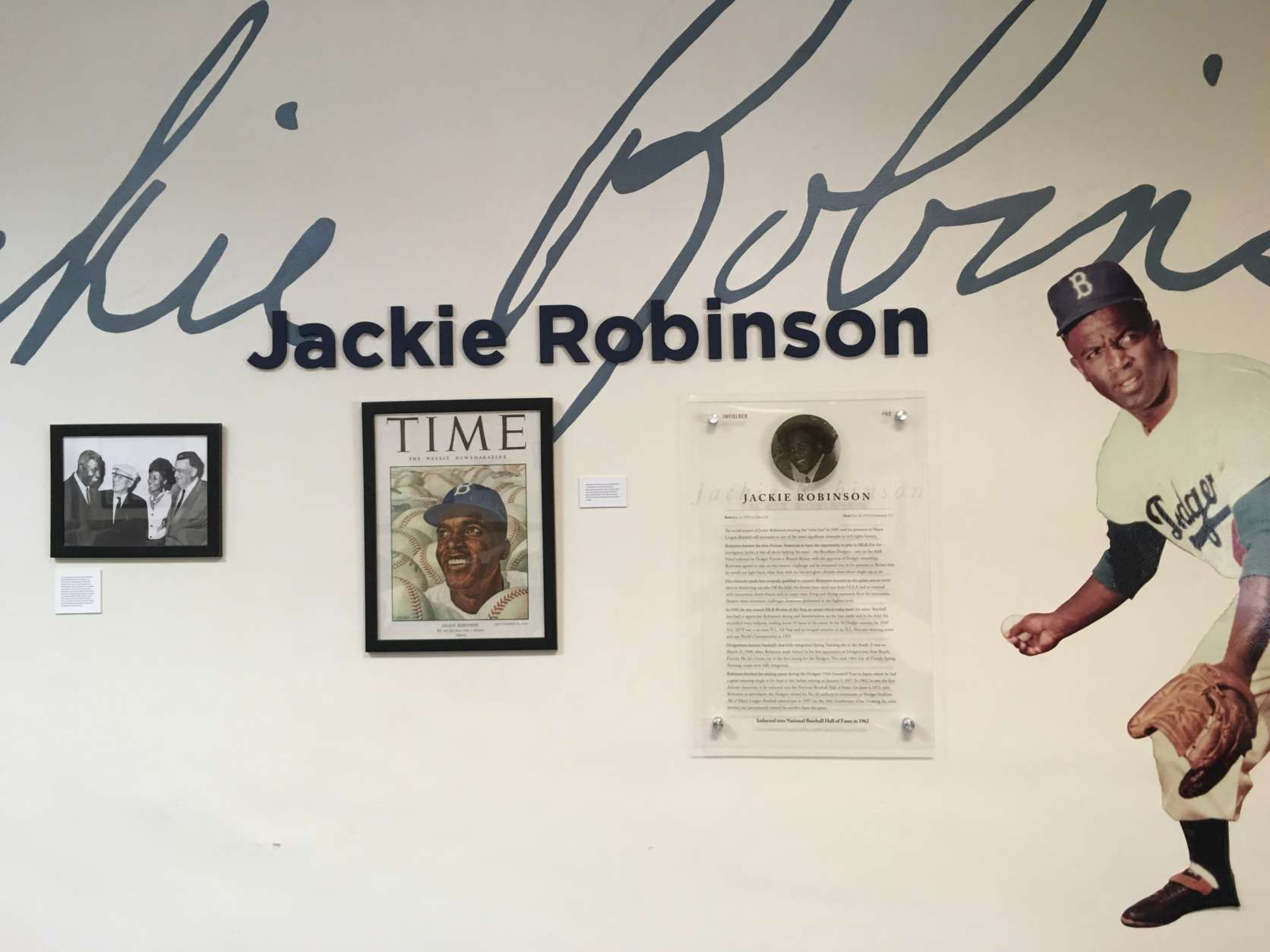 Jackie Robinson's history and that of the breaking of baseball's color barrier is celebrated throughout Historic Dodgertown. (WTOP/Noah Frank)