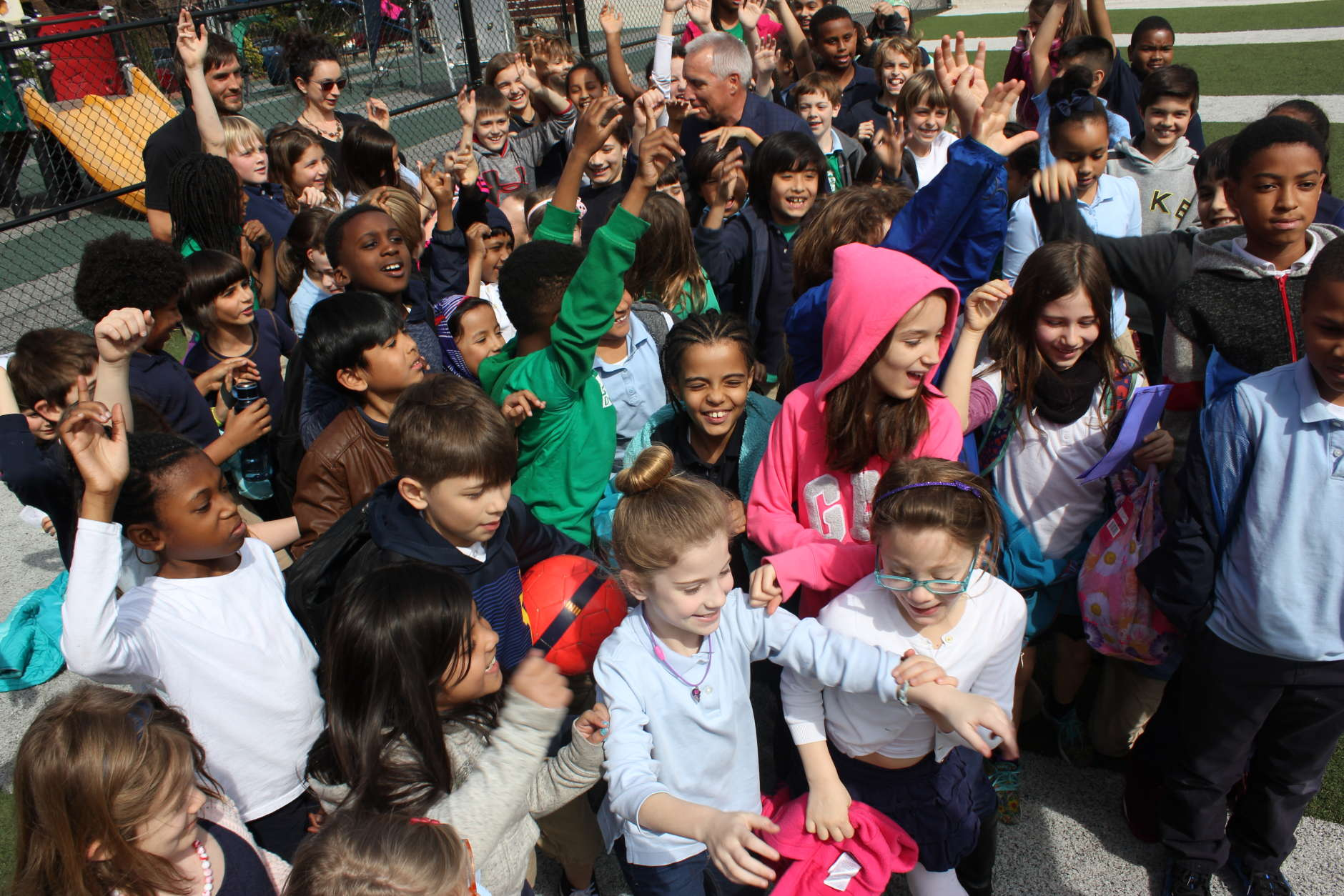 Students from Ross Elementary School in Northwest, D.C. at the ceremony where the school received a PHIT America GO! Grant. (Courtesy of Shari Gordon)