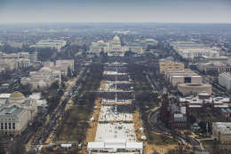 The National Park Service on Monday released dozens of photographs of President Donald Trump's inauguration. (Courtesy National Park Service)