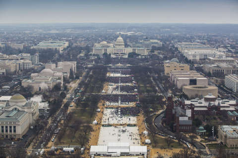 Park Service releases photos of Trump inauguration crowds