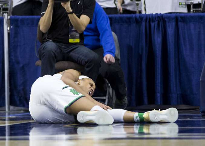 No update on Brianna Turner's knee injury from Notre Dame until Tuesday