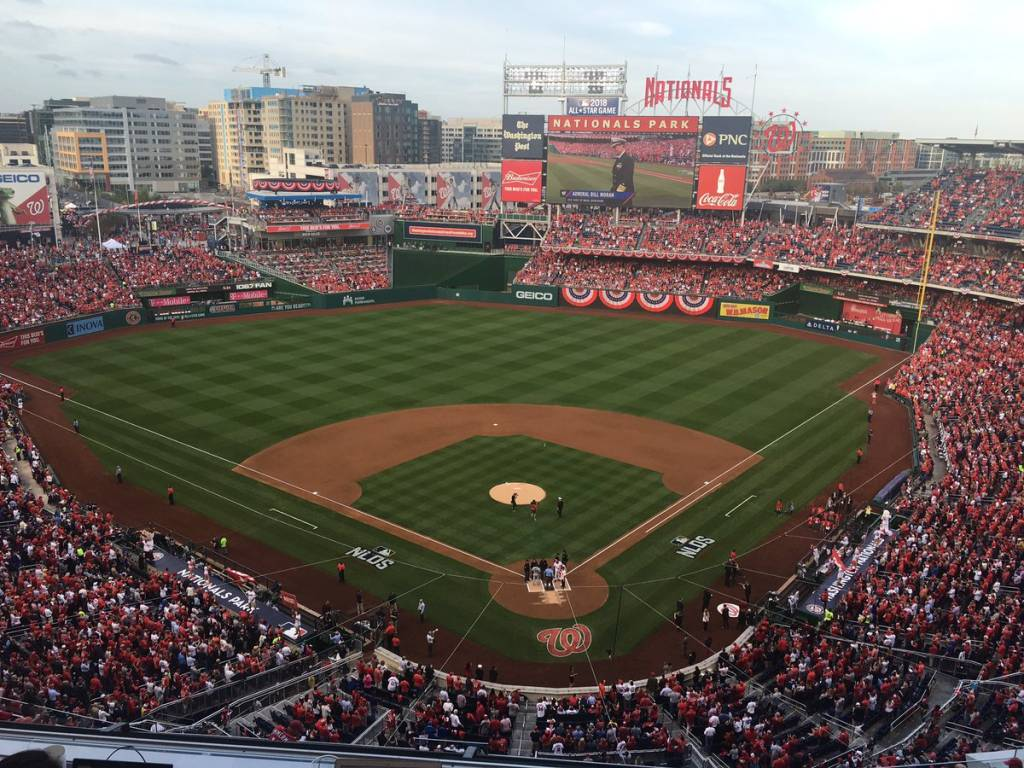 Nationals Park before first pitch on Friday, Oct. 7, 2016. (WTOP/George Wallace)