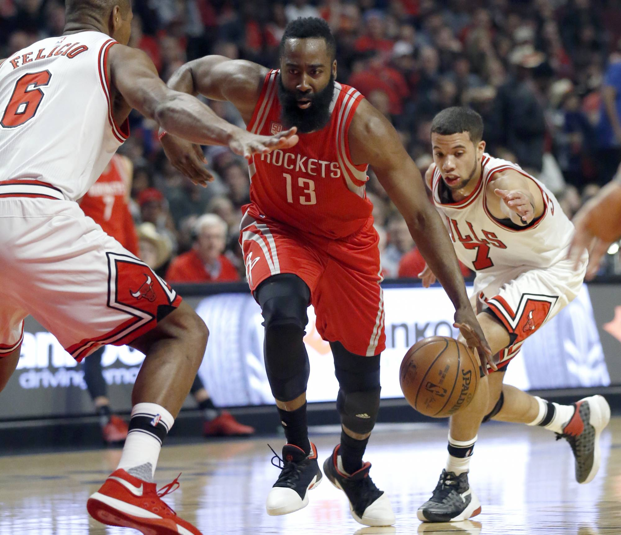 Harden leads the way as Rockets pull away from Bulls, 115 ...