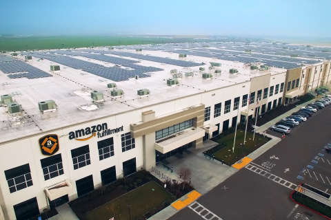 Amazon distribution centers in Maryland, elsewhere go solar
