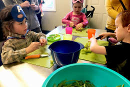 At Yum Pediatrics in Spotsylvania, Virginia, children and their parents can sign up to take cooking classes. (WTOP/Rachel Nania)