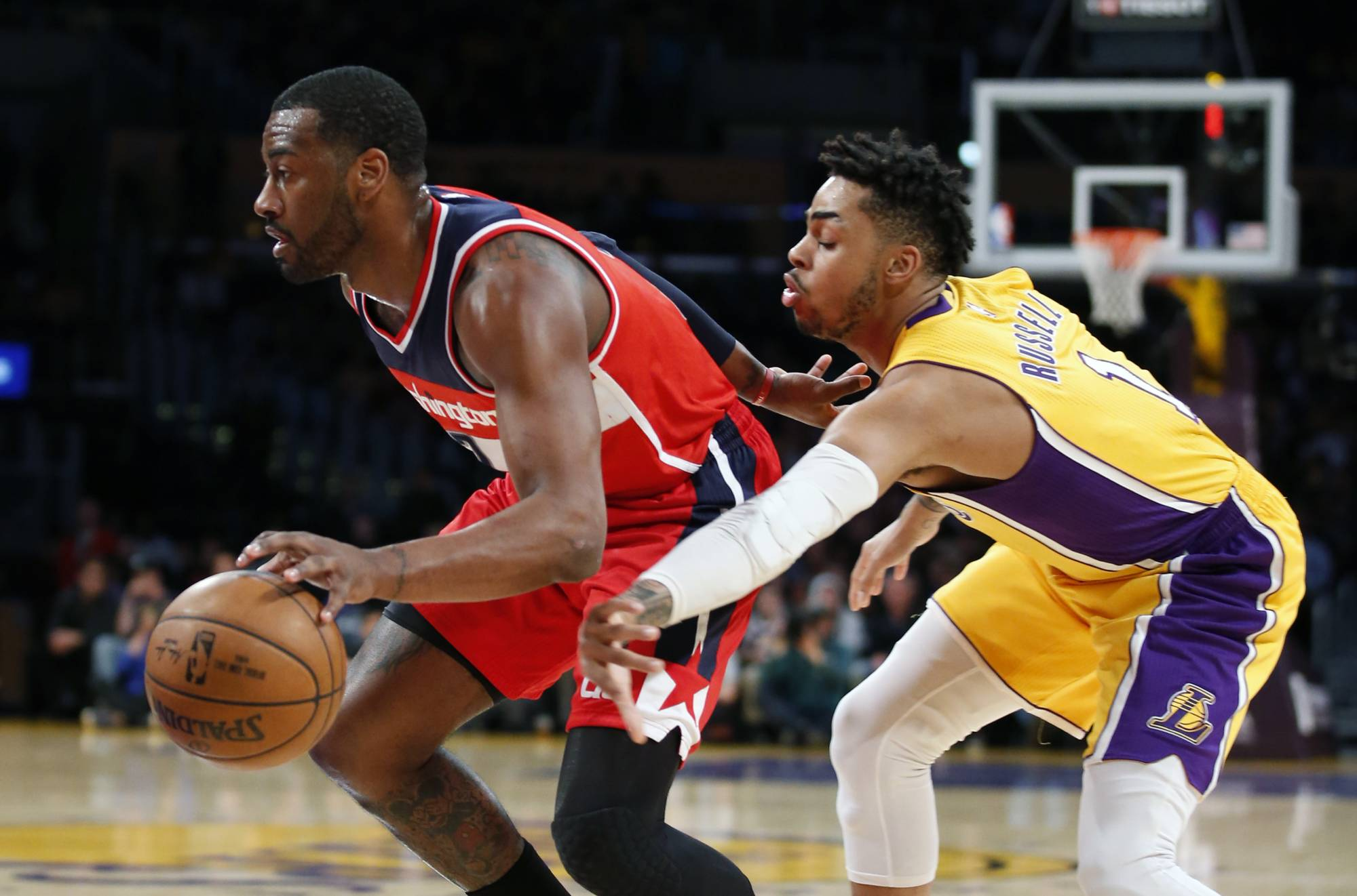 Wizards beat Lakers 119-108 to clinch division title