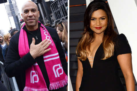 """Mindy Project"" diss leads to Kaling date with Jersey Sen. Corey Booker"