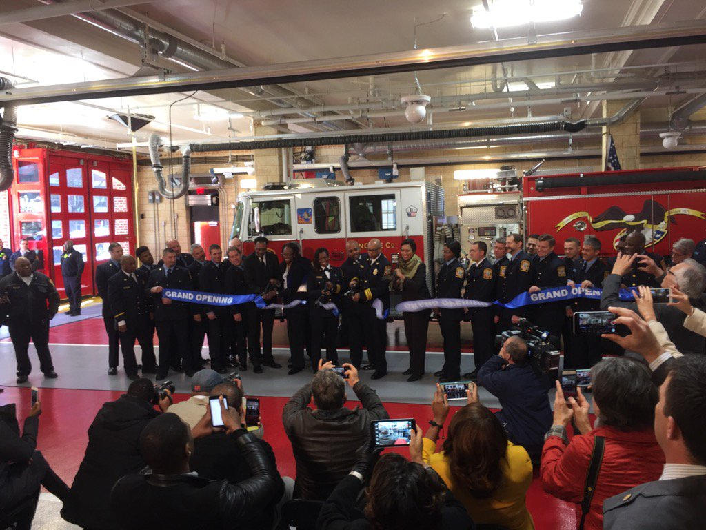 Mayor Bowser said reopening Engine Company 16 is yet another improvement to city fire and emergency services. (WTOP/Kristi King)