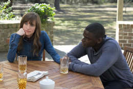 "This image released by Universal Pictures shows Allison Williams, left, and Daniel Kaluuya in a scene from, ""Get Out."" (Justin Lubin/Universal Pictures via AP)"
