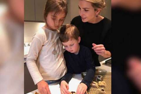 Ivanka Trump shares photo of herself baking Purim pastries with son, daughter