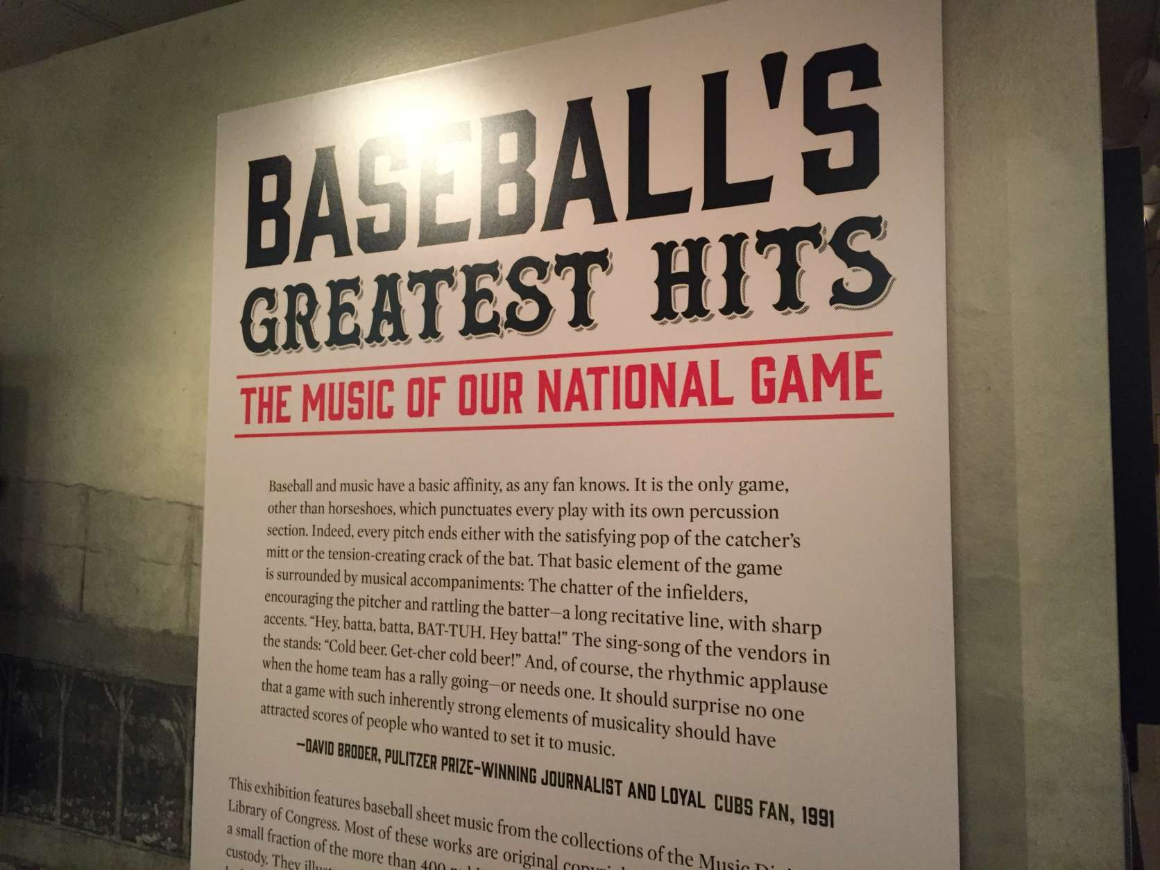 Quotes about the connection between baseball and music. (WTOP/Michelle Basch)