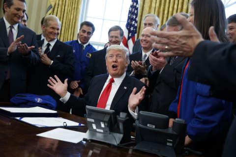 Photos: President Donald Trump's first 100 days