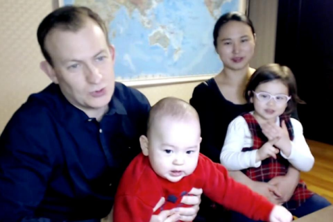 Parents of children who crashed BBC interview say viral video is 'terribly cute'