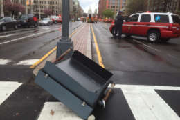 Debris on North Capitol Street in D.C. (WTOP/Dave Dildine)