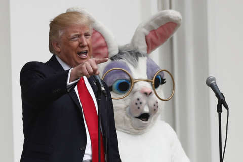 141st White House Easter Egg Roll featured musical eggs, 'Be Best Hopscotch'
