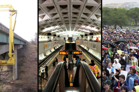 I-95 road work, downtown Metro shutdown, climate march could snarl weekend travel