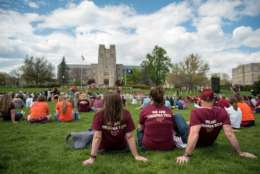 The University Commemoration took place on the Drillfield at the April 16 Memorial on Sunday, April 16, 2017. (Courtesy Virginia Tech)