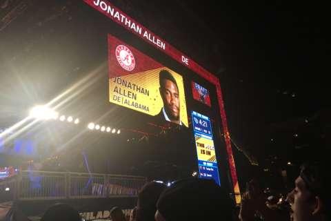 Redskins' first-round pick in the NFL Draft is Alabama DE Allen