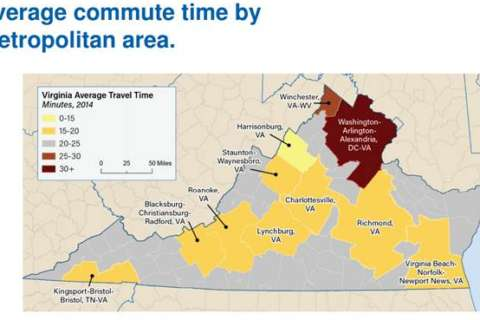 Northern Va. commutes eat up more time than distance, data say