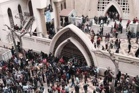 Photos: Palm Sunday church bombing in Egypt