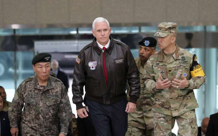 Pence: US won't rest until N. Korea gives up nuclear weapons