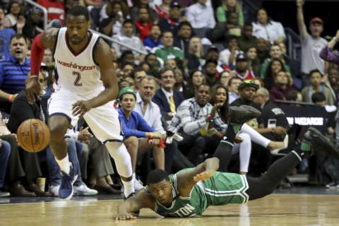 The Wizards win Game 3 over the Boston Celtics, 116-89