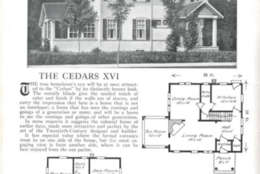 A screen shot of a kit house available for order in the 1920 Aladdin Homes catalog, as archived by the University of Maryland.