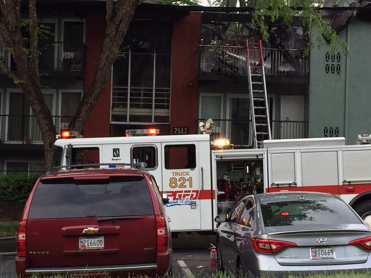 Firefighters responded to the 2500 block of Corning Avenue to find the second floor and attic area on fire, said spokesman Mark Brady. (Courtesy Mark Brady)