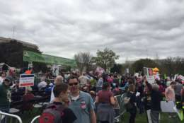 Thousands gathered on west lawn of the Capitol for  the Tax Day march. (WTOP/John Domen)