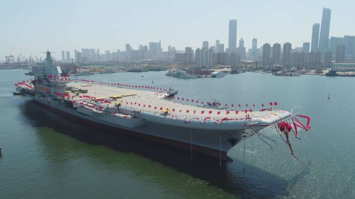 China Launches First Domestically-Built Carrier