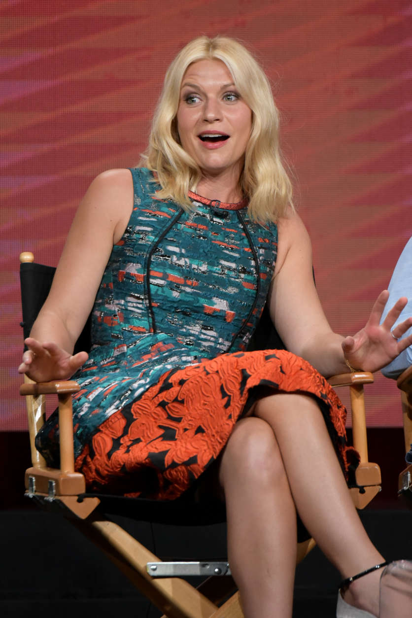 "Claire Danes participates in the ""Homeland"" panel during the Showtime Television Critics Association summer press tour on Thursday, Aug. 11, 2016, in Beverly Hills, Calif. (Photo by Richard Shotwell/Invision/AP)"