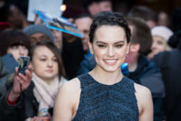 Actress Daisy Ridley poses for photographers upon arrival at the Empire Film Awards in London, Sunday, March 20, 2016. (Photo by Vianney Le Caer/Invision/AP)