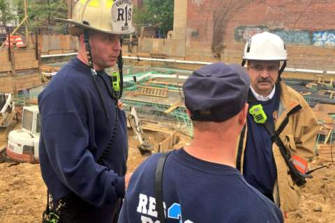 Partial DC trench collapse injures 4 construction workers