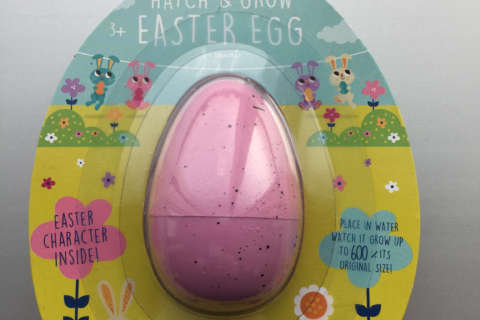 Easter egg toy ingestion hazard prompts Target recall