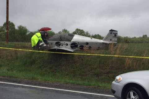 Small aircraft crash lands in Va.
