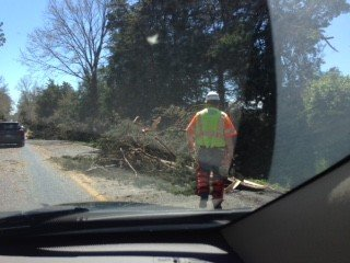 The aftermath of the storm along 522. (Courtesy Carol Hoffman)