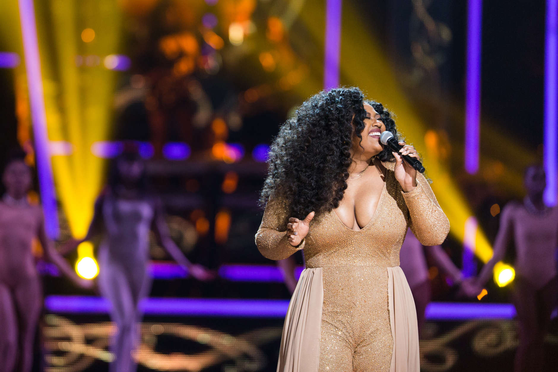 Jazmine Sullivan is seen at 2016 Black Girls Rock! at New Jersey Performing Arts Center on Friday, April, 1, 2016 in Newark, NJ.  (Photo by Michael Zorn/Invision/AP)
