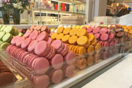 Macarons are delicate cookies made from egg whites, almond powder and sugar. (WTOP/Rachel Nania)