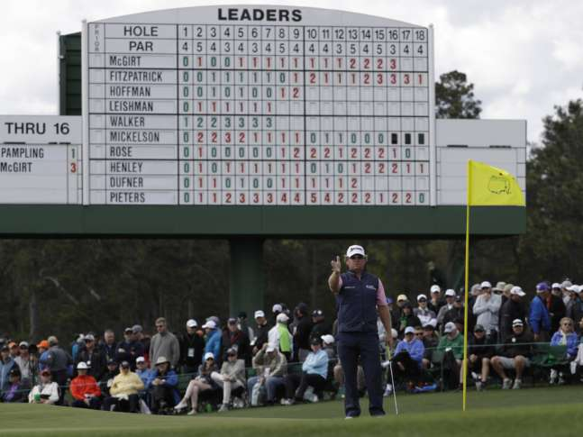 Masters 2017: William McGirt chips in from bunker for birdie