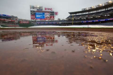 Nationals, Marlins start delayed by rain