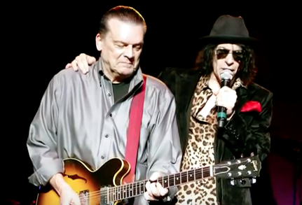 J. Geils (left) performs with Peter Wolf (right) as part of the J. Geils Band. (YouTube)
