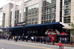 Wizards Celts line outside Verizon Center