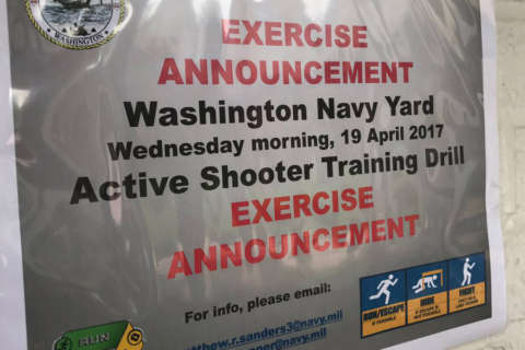 Active shooter drill planned at Navy Yard